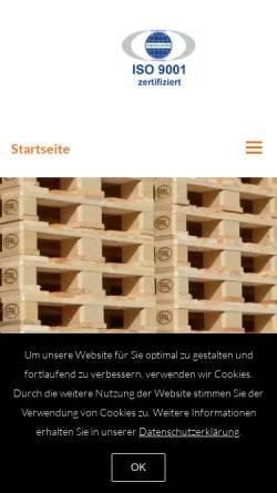Vorschau der mobilen Webseite www.rau-paletten.de, Rau Palettenwerk