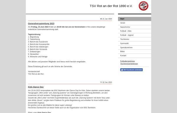 Vorschau von www.tsv-rot.de, TSV Rot an der Rot 1890 e. V.