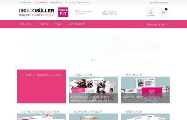 Vorschau von www.druckmueller.de, Druck Müller GmbH & Co. KG