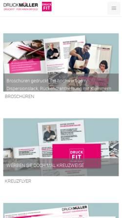 Vorschau der mobilen Webseite www.druckmueller.de, Druck Müller GmbH & Co. KG