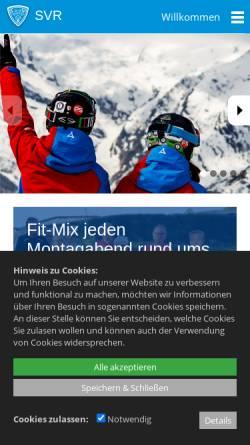 Vorschau der mobilen Webseite www.svrw.de, Schneelauf Verein Rottweil e.V.