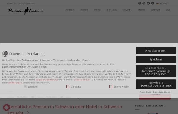Vorschau von www.pension-schwerin.de, Pension Karina Schwerin