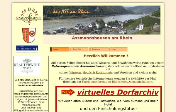 Vorschau von www.assmannshausen-am-rhein.de, Assmannshausen am Rhein