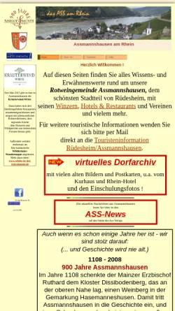 Vorschau der mobilen Webseite www.assmannshausen-am-rhein.de, Assmannshausen am Rhein