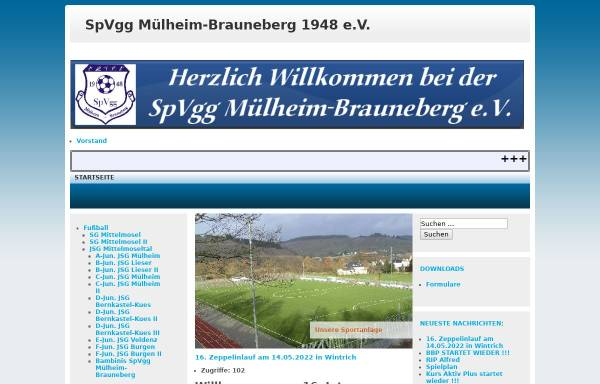 Vorschau von www.spvgg-muelheim-brauneberg.de, Spvgg. Mülheim-Brauneberg e.V.