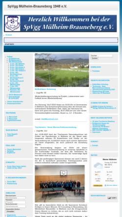 Vorschau der mobilen Webseite www.spvgg-muelheim-brauneberg.de, Spvgg. Mülheim-Brauneberg e.V.