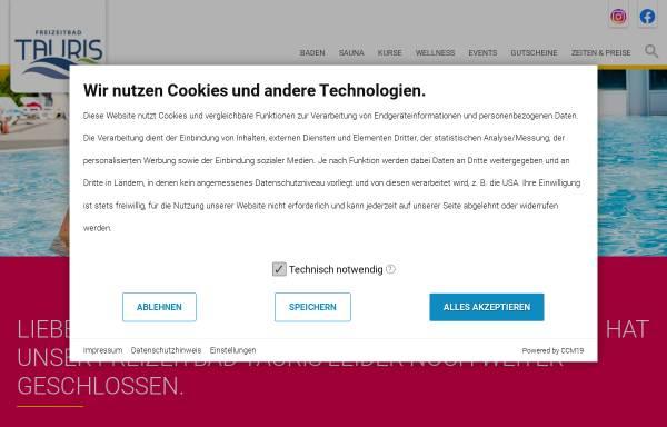 Vorschau von www.tauris.net, Freizeitbad Tauris