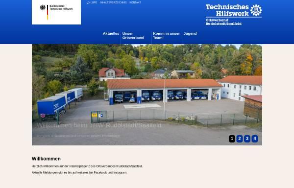 Vorschau von www.thw-rudolstadt.de, THW Ortsverband Rudolstadt