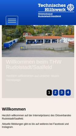 Vorschau der mobilen Webseite www.thw-rudolstadt.de, THW Ortsverband Rudolstadt