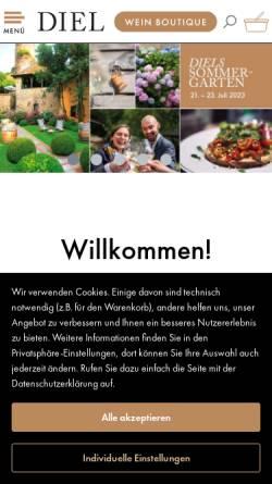 Vorschau der mobilen Webseite www.schlossgut-diel.com, Schlossgut Diel