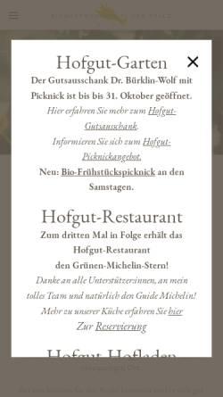 Vorschau der mobilen Webseite dashofgut.com, Hofgut Ruppertsberg