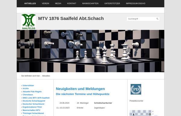Vorschau von mtv-saalfeld.de, MTV 1876 Saalfeld Abteilung Schach