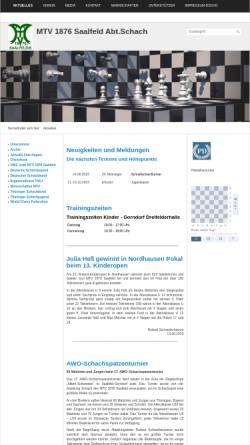 Vorschau der mobilen Webseite mtv-saalfeld.de, MTV 1876 Saalfeld Abteilung Schach