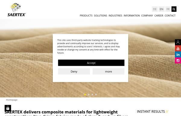 Vorschau von www.saertex.com, SAERTEX Wagener GmbH Co. KG
