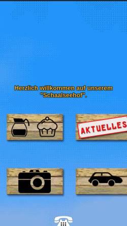 Vorschau der mobilen Webseite www.schaalseehof.de, Cafe und Heuherberge Schaalseehof