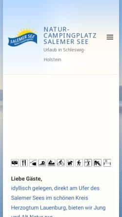 Vorschau der mobilen Webseite www.minigolf-salem.de, Minigolf Salem, Inhaber Karl-Heinz Heß
