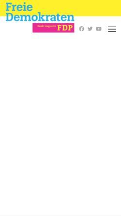 Vorschau der mobilen Webseite fdp-sankt-augustin.de, FDP Sankt Augustin