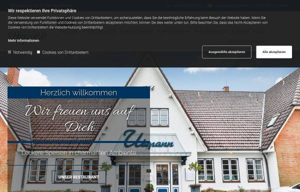 Vorschau von www.utspann-schafflund.de, Hotel-Restaurant Utspann