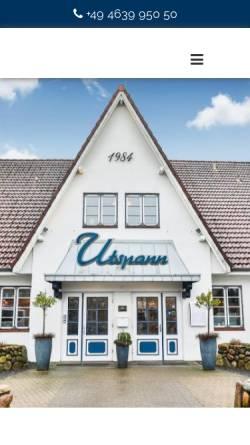Vorschau der mobilen Webseite www.utspann-schafflund.de, Hotel-Restaurant Utspann