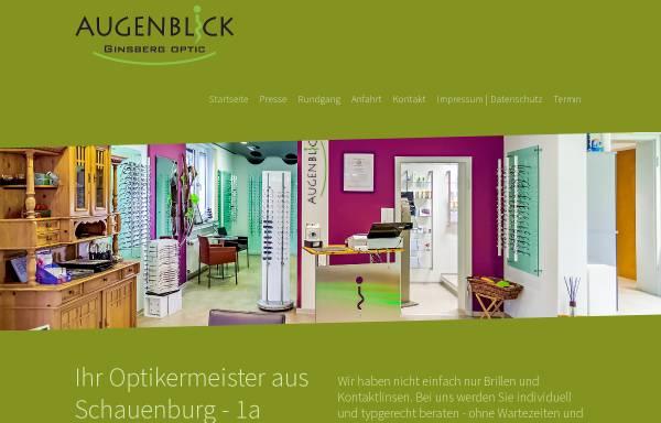 Vorschau von www.augenblick-ginsberg.de, Augenblick Ginsberg Optic