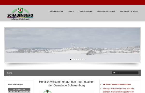 Vorschau von www.gemeinde-schauenburg.de, Gemeinde Schauenburg
