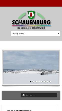 Vorschau der mobilen Webseite www.gemeinde-schauenburg.de, Gemeinde Schauenburg