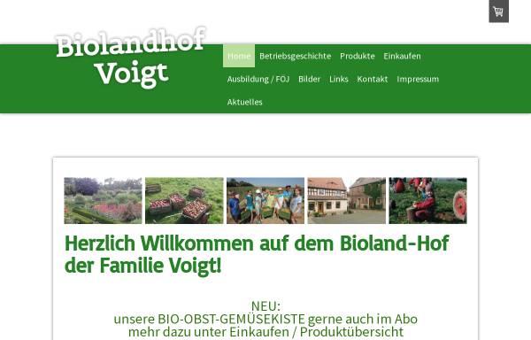Vorschau von www.biolandhof-voigt.de, Bioland-Hof Familie Voigt
