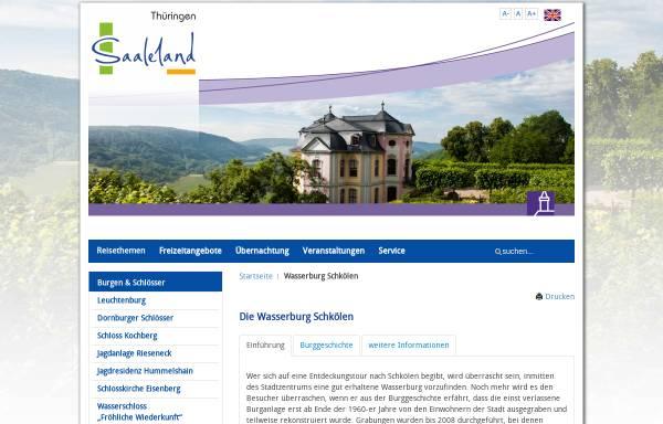 Vorschau von www.saaleland.de, Die Wasserburg zu Schkölen