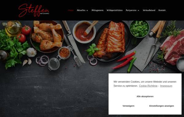 Vorschau von www.metzgerei-steffen.de, Metzgerei und Partyservice Steffen GbR