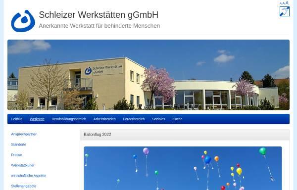 Vorschau von www.schleizer-werkstaetten.de, Schleizer Werkstätten gGmbH