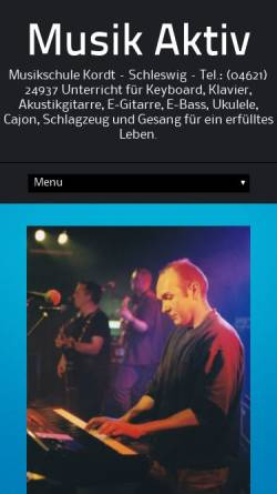 Vorschau der mobilen Webseite musikschule-kordt.de, Musikschule Kordt