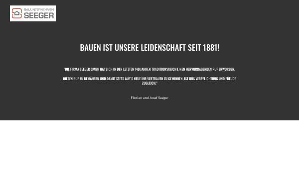 Vorschau von www.bau-seeger.de, Bauunternehmen Seeger GmbH