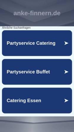 Vorschau der mobilen Webseite www.anke-finnern.de, Anke Finnern - Kochschule und Catering
