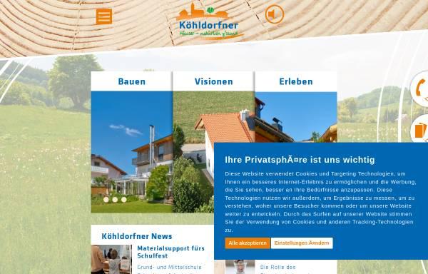 Vorschau von koehldorfner.de, Köhldorfner & Sohn GbR
