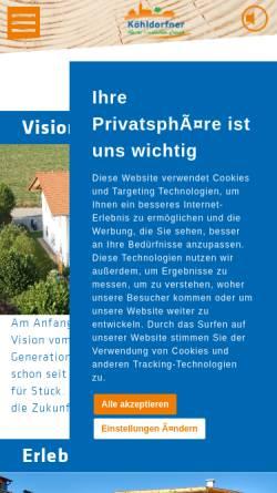 Vorschau der mobilen Webseite koehldorfner.de, Köhldorfner & Sohn GbR