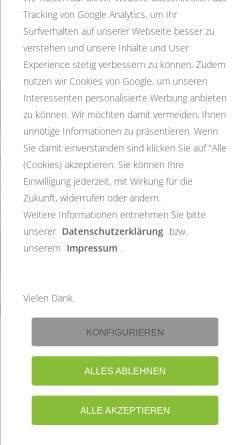 Vorschau der mobilen Webseite www.alff-schoenecken.de, Firma Friedrich Alff