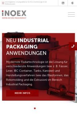 Vorschau der mobilen Webseite www.inoex.de, Inoex GmbH