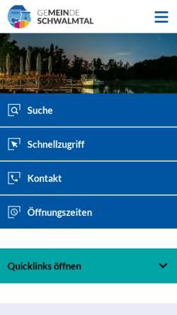 Vorschau der mobilen Webseite www.schwalmtal.de, Gemeinde Schwalmtal