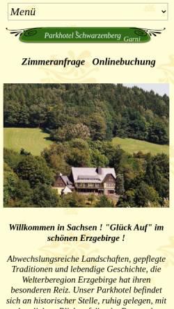Vorschau der mobilen Webseite www.parkhotel-schwarzenberg.de, Parkhotel Schwarzenberg