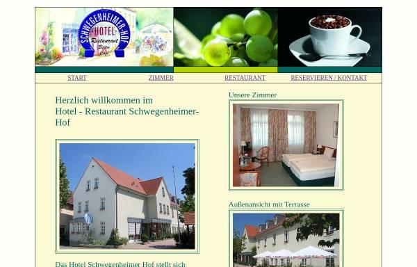 Vorschau von www.hotel-schwegenheimer-hof.de, Hotel-Restaurant Schwegenheimer Hof