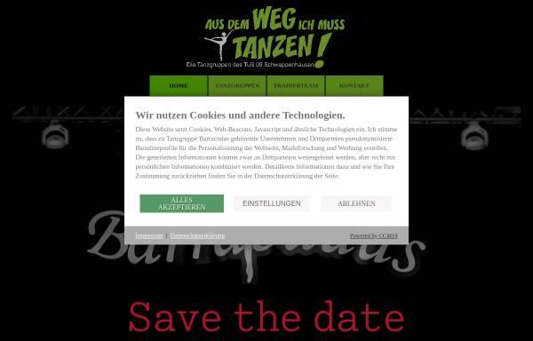 Vorschau von www.tanzgruppe-barracudas.de, Tanzgruppe Barracudas - Tanzsportabteilung des TUS 09 Schweppenhausen