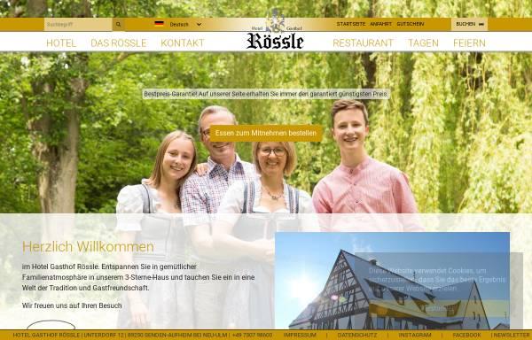Vorschau von www.gasthof-roessle.com, Hotel Gasthof Rössle