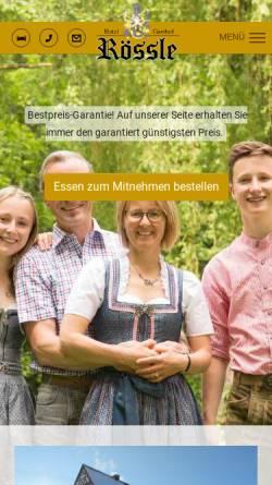 Vorschau der mobilen Webseite www.gasthof-roessle.com, Hotel Gasthof Rössle