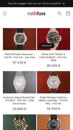 Vorschau der mobilen Webseite www.rothfuss.de, Rothefuss GmbH u. Co. KG