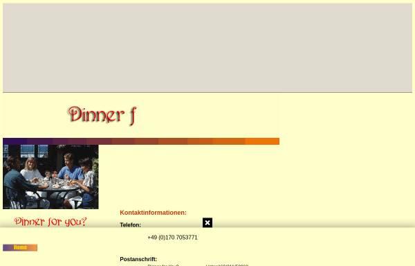 Vorschau von dinnerforyou.tripod.com, Antje Dilz: Dinner for You?