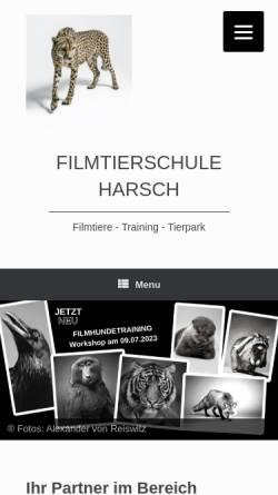 Vorschau der mobilen Webseite www.filmtierschule-harsch.de, Filmtierschule Harsch