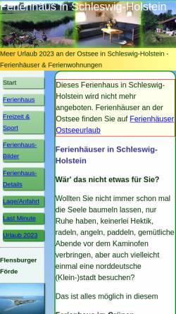 Vorschau der mobilen Webseite www.ferienhaus-schleswig-holstein.com, Ferienhaus Gyde Diederich