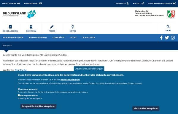 Vorschau von www.schulministerium.nrw.de, Nordrhein-Westfalen: Schulrecht
