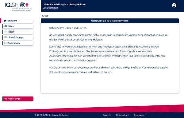 Vorschau von www.schulrecht.lernnetz2.de, Schleswig-Holstein: Lernnetz Schulrecht