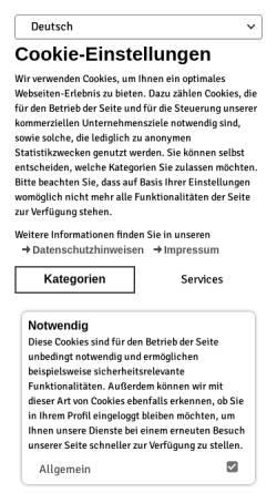 Vorschau der mobilen Webseite www.spalt.de, Stadt Spalt